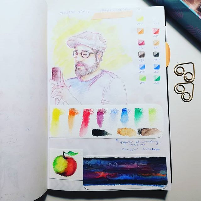 Instagram - Watercolour pencils Albrecht Durer #watercolor #pencils #crayons #sketchnearlyeveryday #sketchbook #drawing #art #artwork #illustrator #analogillustration #people #portrait #test #sketching #instaart #instadraw #sketch #szkic #szkicownik #rysunek #testkredek