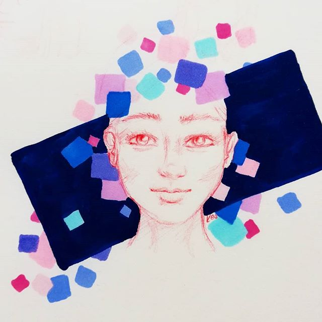 Instagram - :)#sketch #copicsketch #szkicownik #midorisketchbook #illustration #drawing #copics #art #analogillustration #people #portrait #relax #redpencil