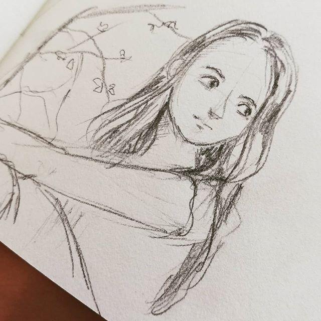 Instagram - Hallo sunshine #illust #kidlitart #portrait #szkicownik #midorisketchbook #illustration #drawing #art #artwork #illustrator #analogillustration #people #characterdesign #sketchbook #portret #rysunek #wiosna #nadrzewie #chwila #chwiladlasiebie