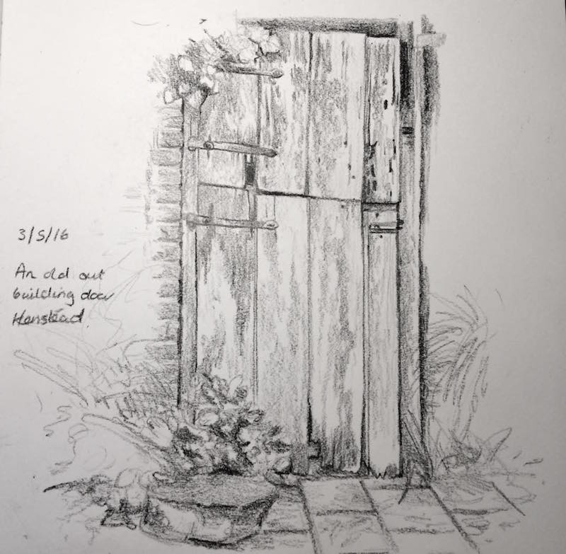 old outhouse door 124
