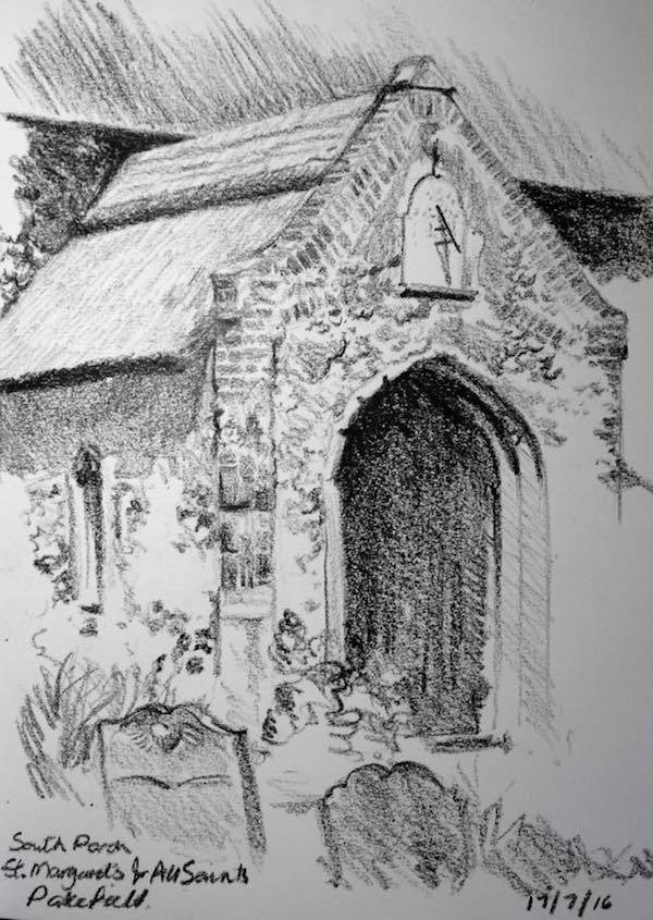 Pakefield church sketch 199