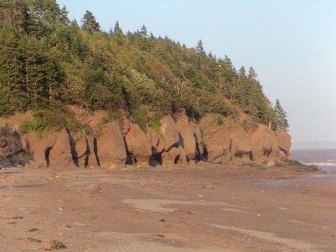 Hopewell rocks - walking on the ocean bottom