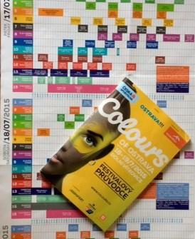 colours of festival program brochure