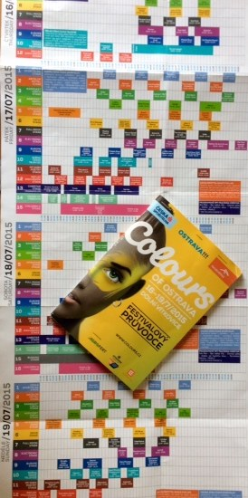 colours of festival program brochure