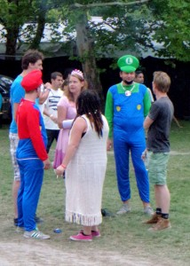 People of Sziget - Luigi, Mario and Princess Peach