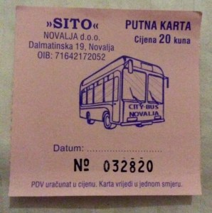bus ticket to zrce beach pink
