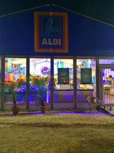 aldi supermarket at sziget festival