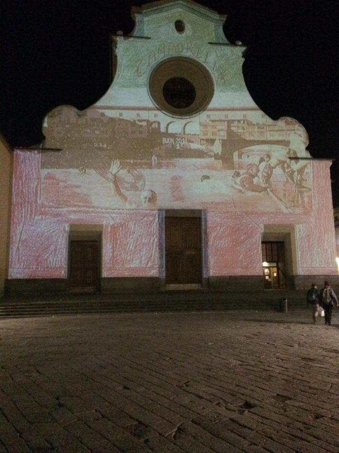 Santo spirito church florence light festival