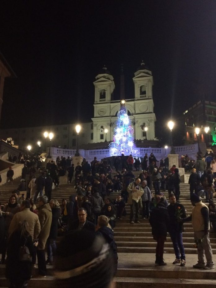 Spanish steps Rome during Christmas