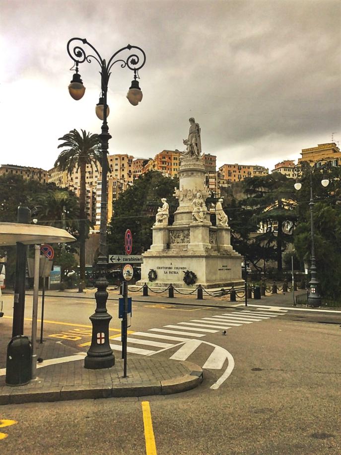 Christoph Columbus statue Genoa