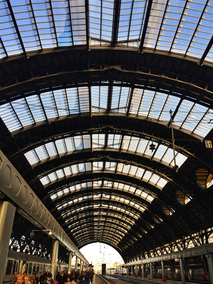 Milano Centrale train station skylight view roof