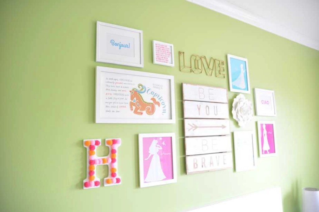 pompom wall letter girls bedroom