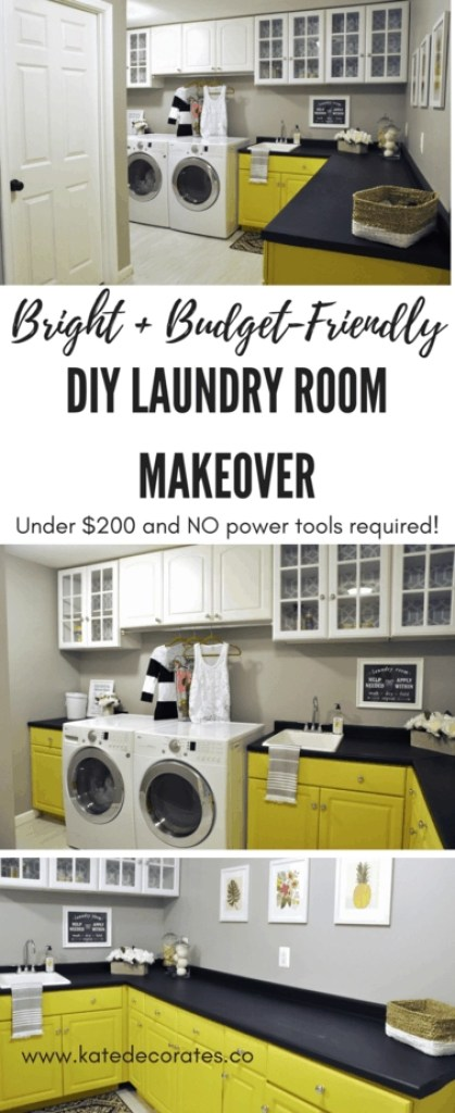 WOW, this laundry room makeover is awesome, AND it's easy and budget-friendly! Score.