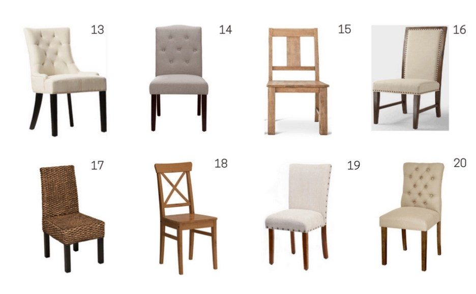 brown neutral dining chairs affordable