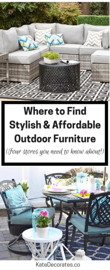 If you're in search of affordable yet stylish outdoor decor and furniture, you NEED to know about these four places!