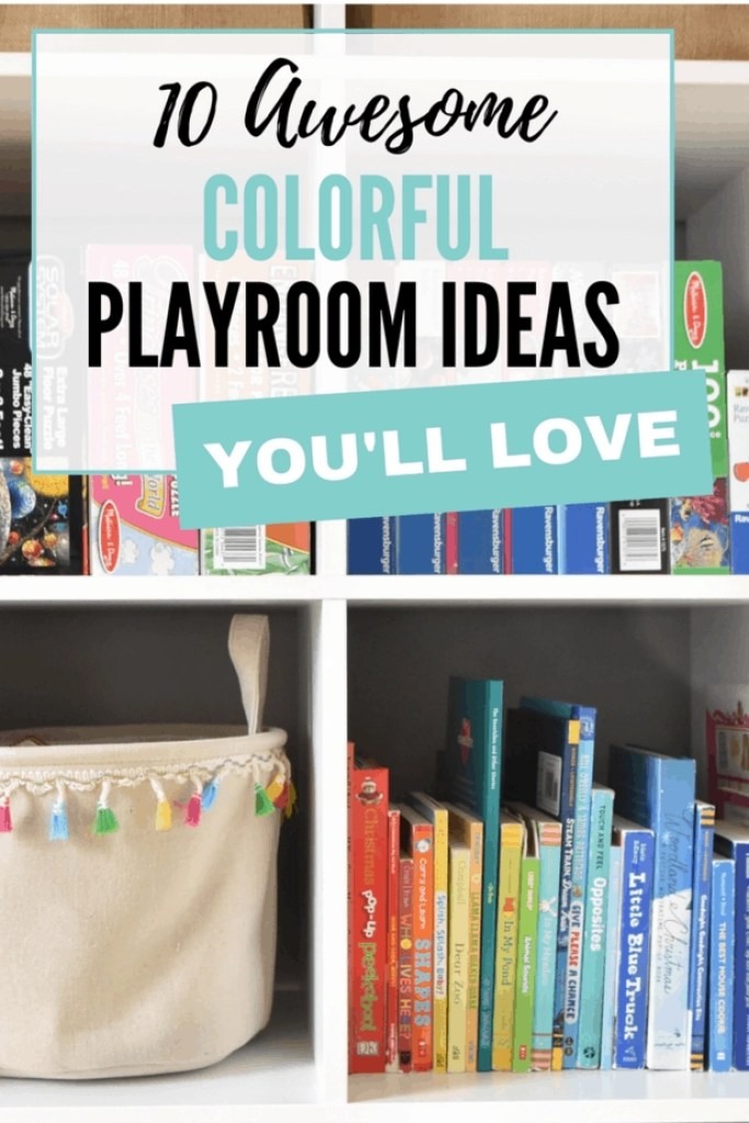 Loving these colorful playroom ideas!