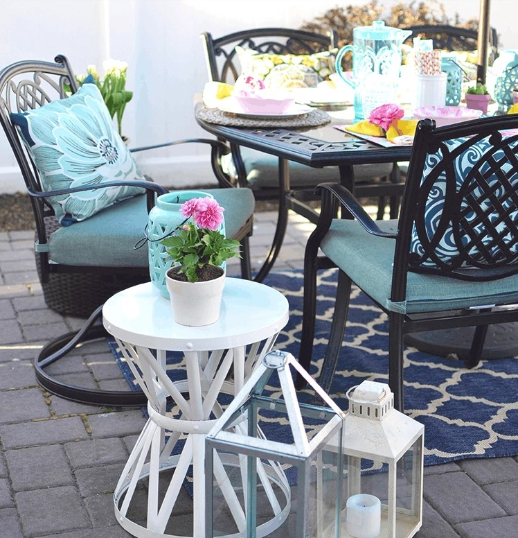 A Colorful Small Patio Update For Spring, The Home Depot Blog