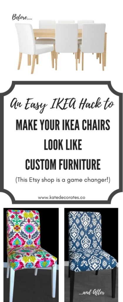 WOW - this Etsy shop's slipcovers can easily take IKEA chairs from boring to beautiful. Can't believe I didn't know about this option sooner!