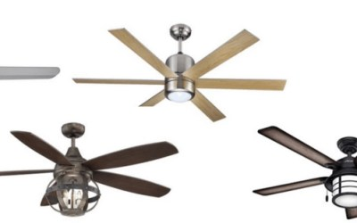 10 Affordable + Stylish Indoor Ceiling Fans With Lights