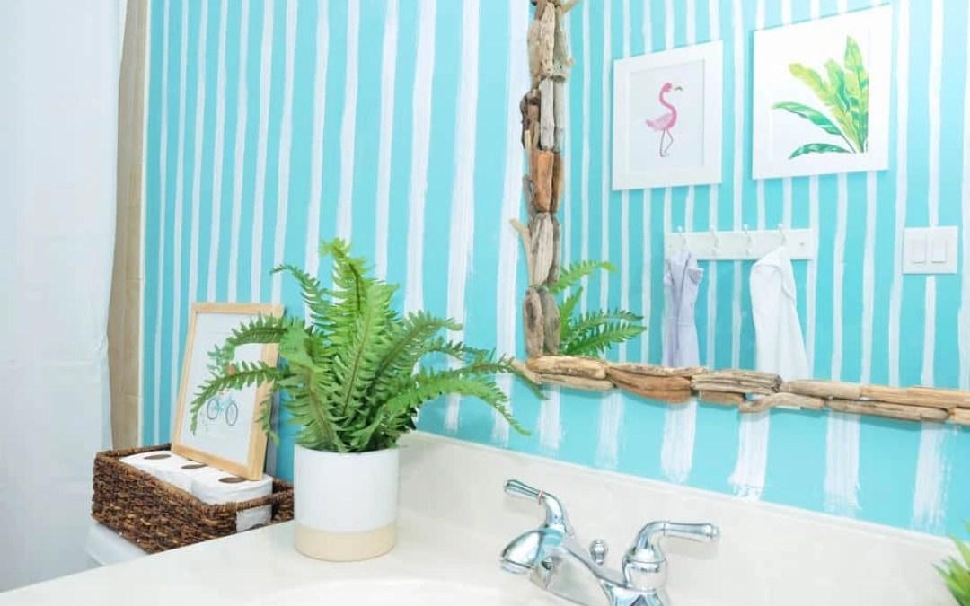 $100 Room Challenge, Week 4: Kids' Shared Bathroom Reveal