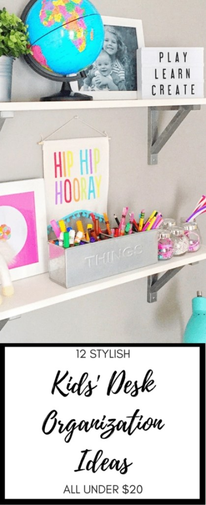 I'm loving these stylish and affordable desk organization ideas for the kiddos!