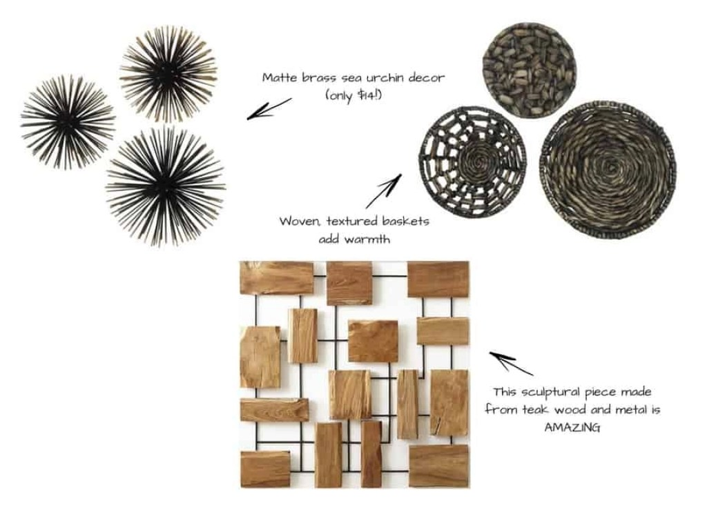 sculptural elements for gallery walls