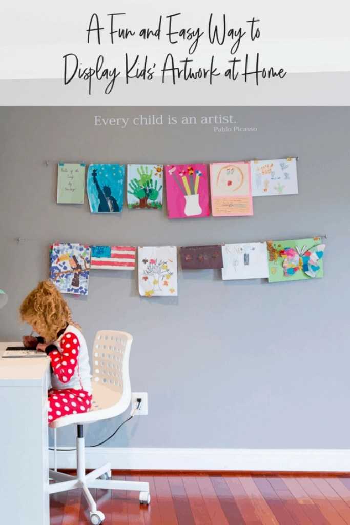 How to Display Kids Artwork at Home Pinterest