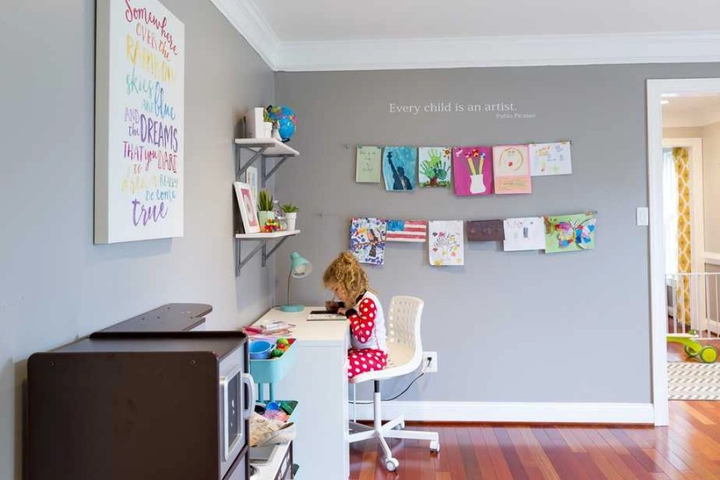 how to display kids artwork at home 1