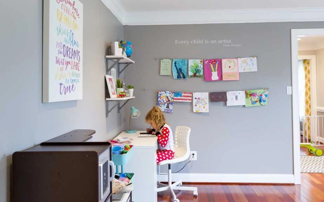 A Fun and Easy Way to Display Kids' Artwork at Home