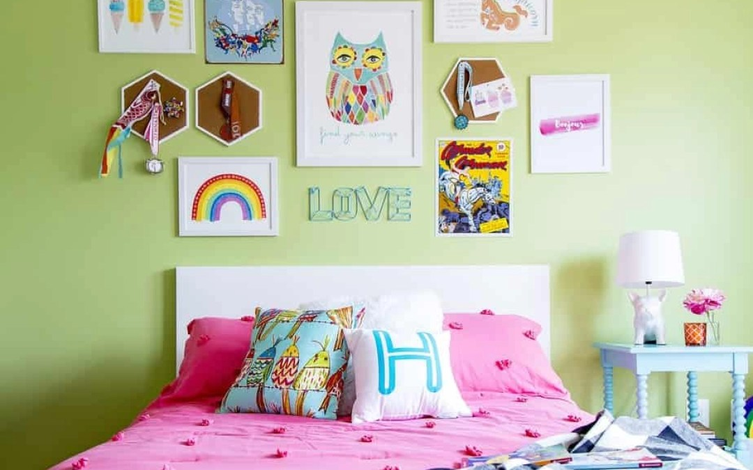A Six-Year Old Girl's Colorful, Rainbow Hued Bedroom
