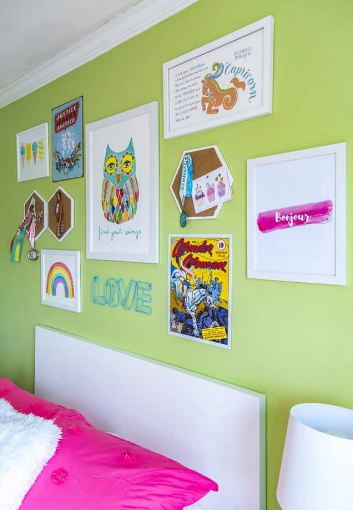 girls rainbow bedroom 7