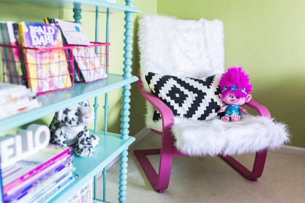 ikea poang chair hack kids colorful bedroom