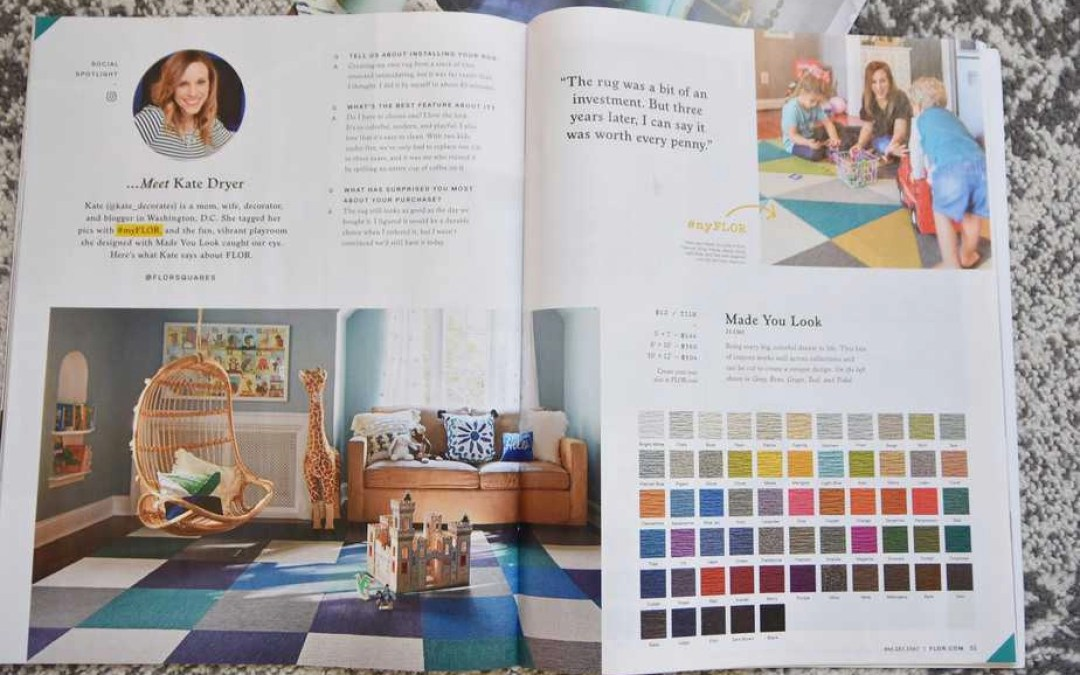 My FLOR Catalog Feature + 3 Types of Family-Friendly Rugs That Work with Kids and Pets