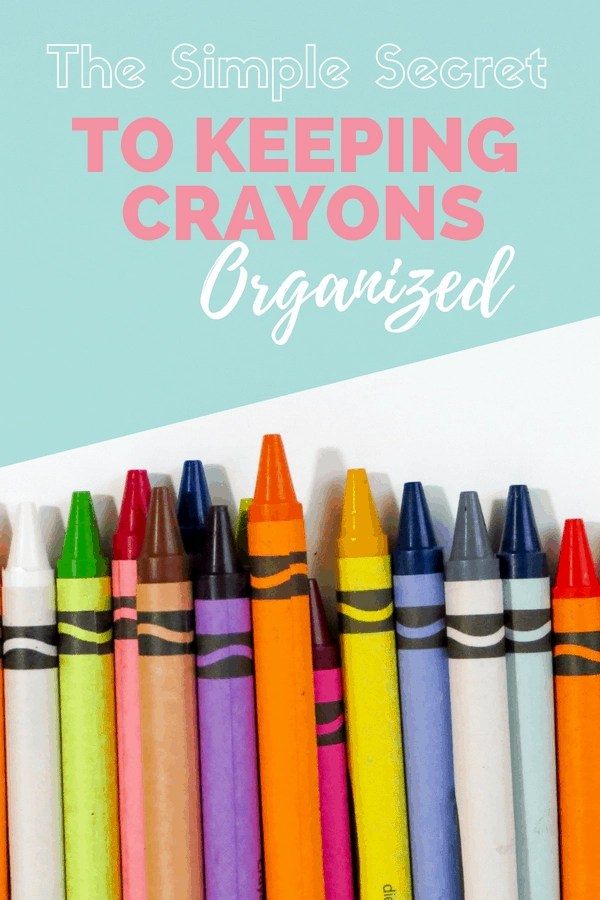 Why didn't I think of this easy solution for how to organize crayons and markers? So smart!