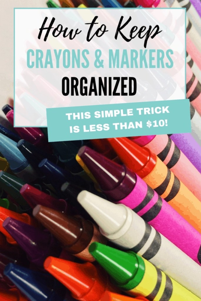 Here's how to organize crayons and art supplies for good!