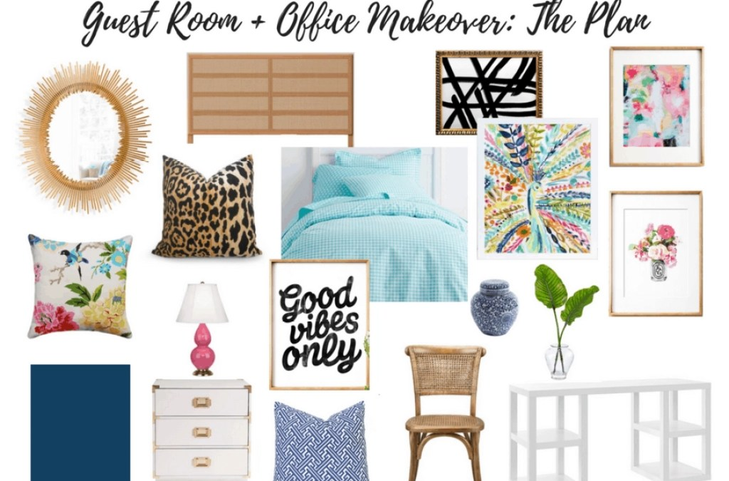 Colorful Makeover Plans for the Guest Room and My Home Office