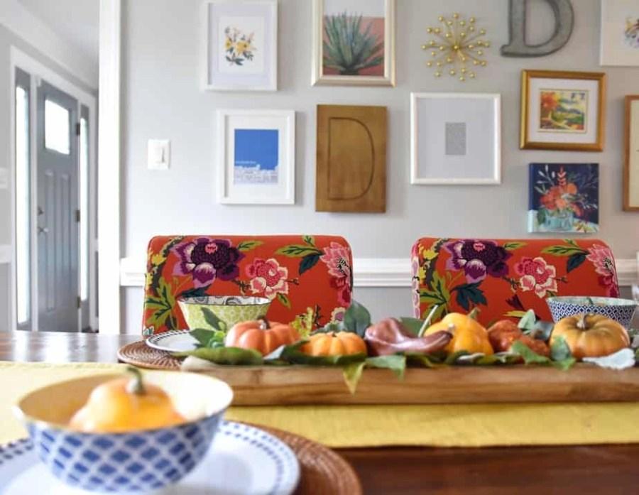 easy fall dining room decor 2