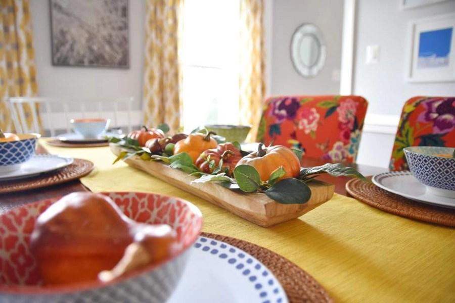 easy fall dining room decor 1