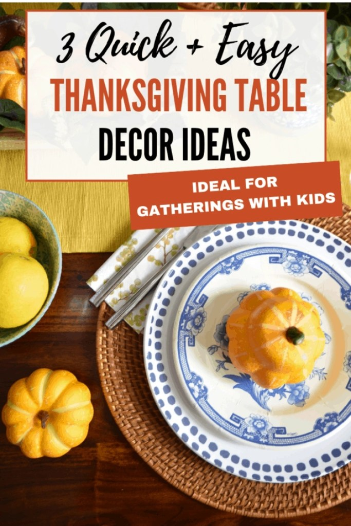 These easy holiday table decoration ideas are PERFECT for gatherings with kids!