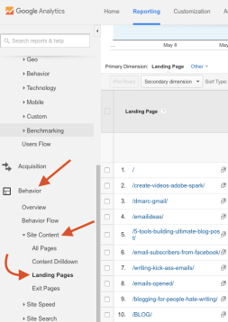 google anaytics content upgrades
