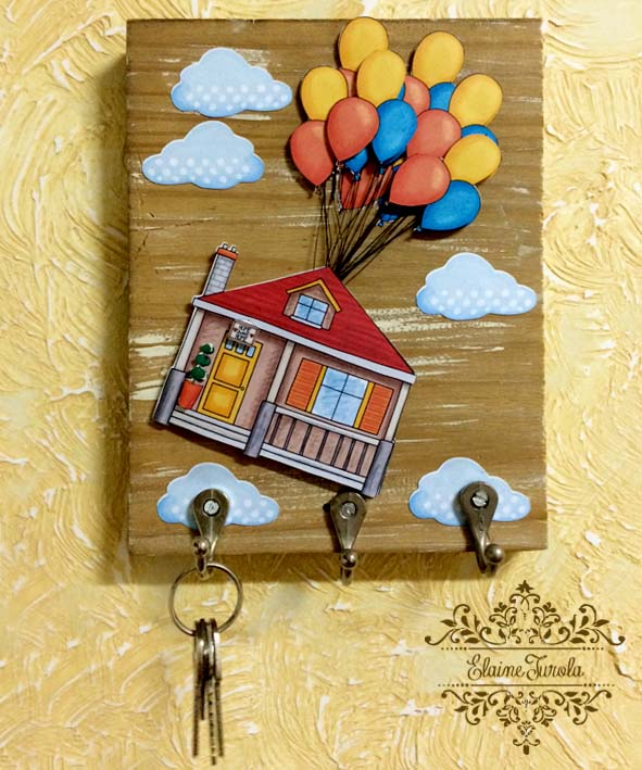 Decorated key board created using digital scrapbook supplies! Kate Hadfield Designs creative team project by Elaine