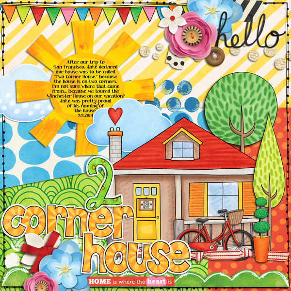 Weekend at Home digital scrapbooking page | scrapbook layout ideas | Kate Hadfield Designs creative team layout by Rebecca