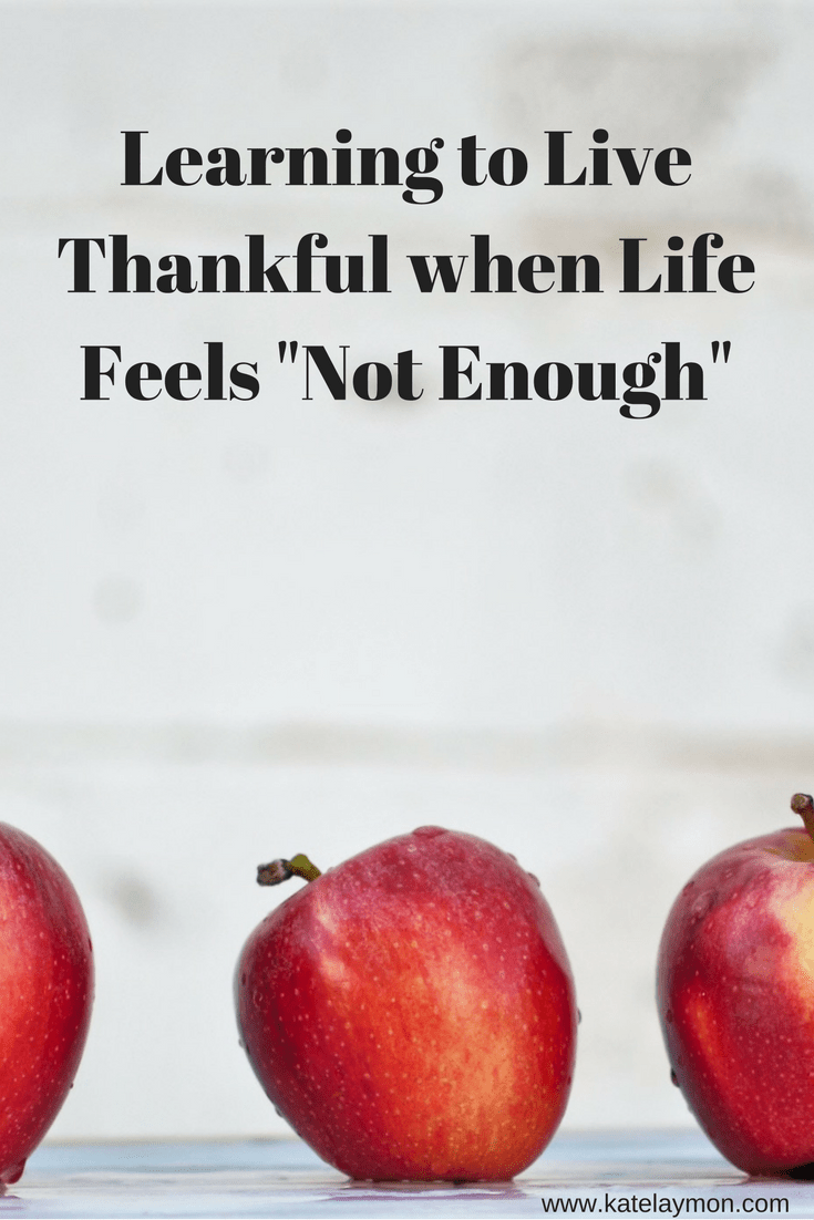 Be thankful and enjoy