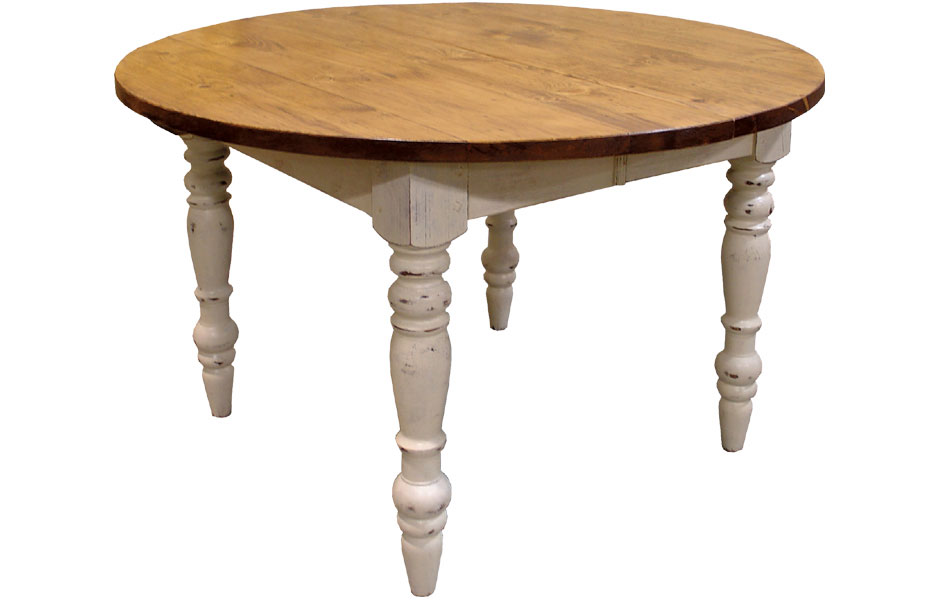 French Country 48 Inch Round Table With Extensions