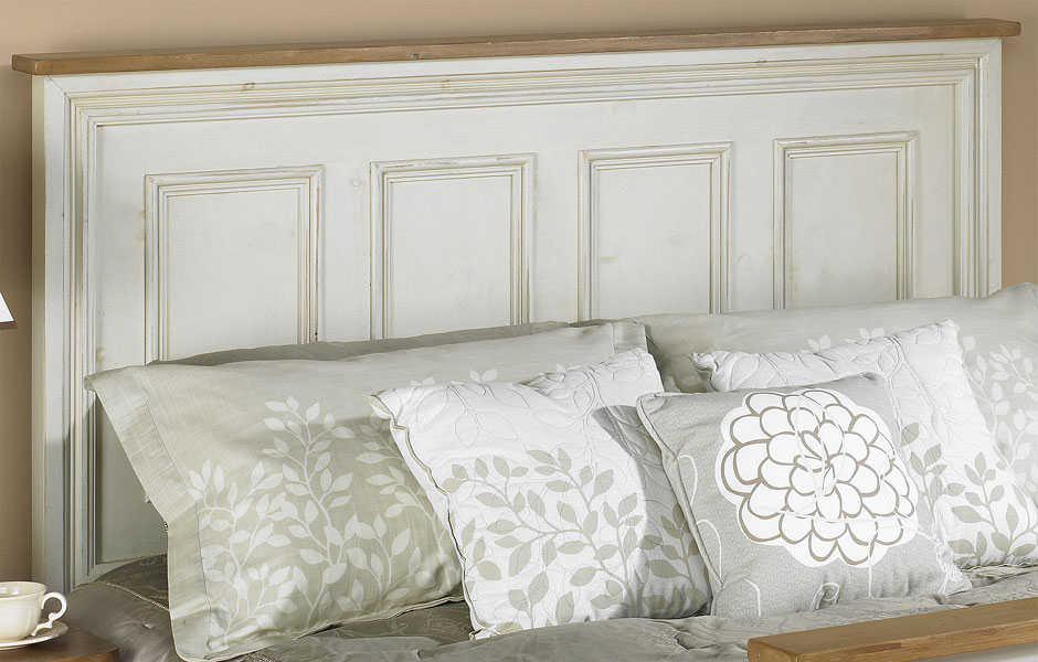 French Country Raised Panel Headboard French Country