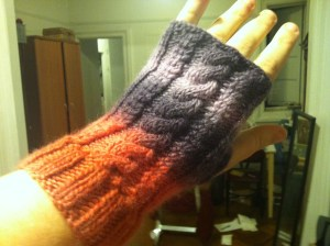 Look! Mitts! Ignore how messy my apartment is in the background.