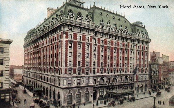 Vintage postcard of the Hotel Astor