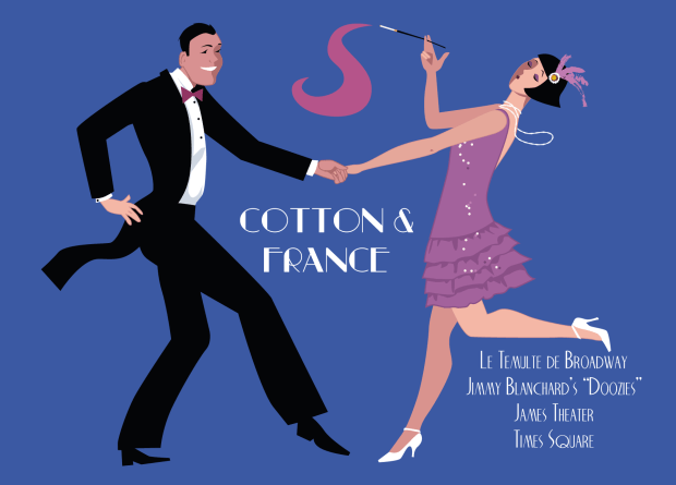 Postcard for the Cotton & France show, part of Jimmy Blanchard's Doozies (from SUCH A DANCE)