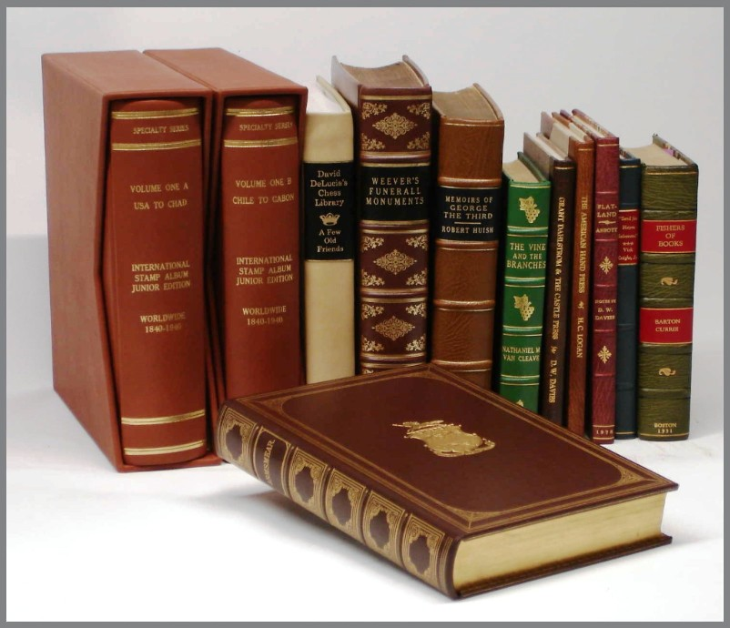 Image result for picture of leather bookbindings