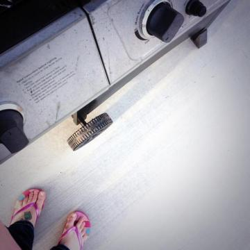 a grill AND sandals!